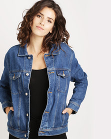 Mango Denim Jacket Blue