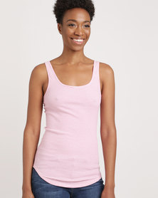 Gap Basic Vest Pink