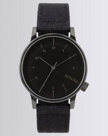 Komono Winston Strap Watch Black