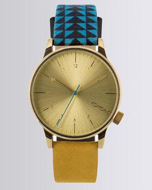 Komono Winston Strap Watch Blue/Brown
