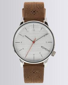 Komono Winston Brogue Walnut Watch