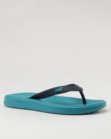 hot sale online b0dd2 c22f4 Nike Solay Thong Flip Flop Blue   Zando