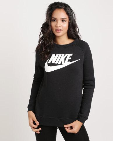 09beeba92ad6 Nike Women's Nike Sportswear Rally Gx1 Crewneck Top Black   Zando