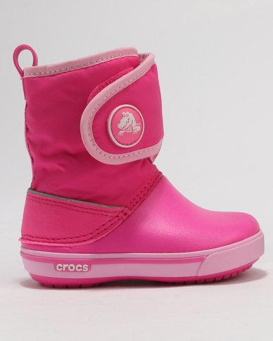 db31ac7c2d61d Crocs Crocband Gust Boots Pink