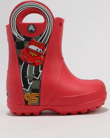 Crocs Handle It McQueen Rain Boots Red