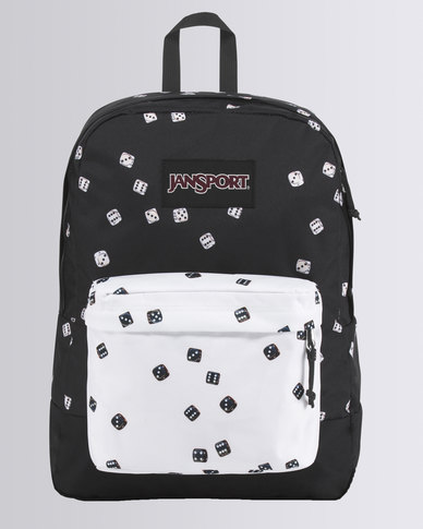 60% discount closer at best selling JanSport Black Label Roll of the Dice Superbreak Backpack Black and White