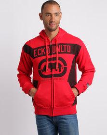 Ecko Unltd Zip Thru Hoodie Red