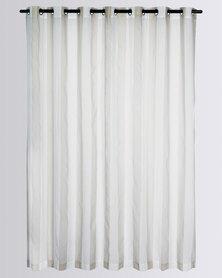 Design Collection Sorbet Sheer Eyelet Curtain  Stone