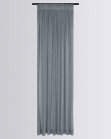 Design Collection Sante Fe Sheer Taped Curtain Silver