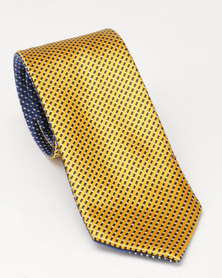 JCrew Reversible Tie Gold & Blue
