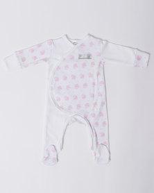 Poogy Bear Cupcake Crossover Babygrow Pink