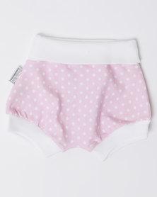 Poogy Bear Polkadot Harem Shorts Pink