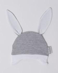 Poogy Bear Bunny Ears Beanie Grey