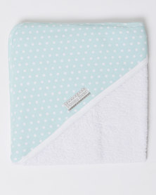 Poogy Bear Polkadot Hooded Towel Aqua