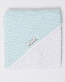 Poogy Bear Polkadot Hooded Towel Aqua