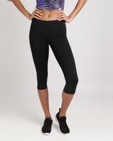Fifth Element Capris Sports Leggings Black