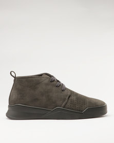 Paul of London Casual Lace Up High Top Sneakers Grey