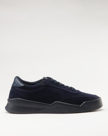Paul of London Casual Lace Up Low Cut Sneakers Navy