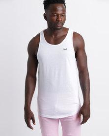 Unruly Longer Length Vest White