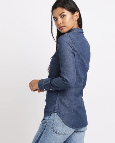 e47ec3a9 Levi's ® Tailrd Classic Western Vintage Shirt Medium Fall Blue   Zando