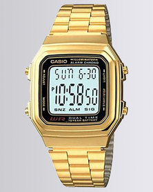Casio Unisex Digital Gold Retro Watch