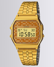 Casio Unisex Digital Checked Retro Watch