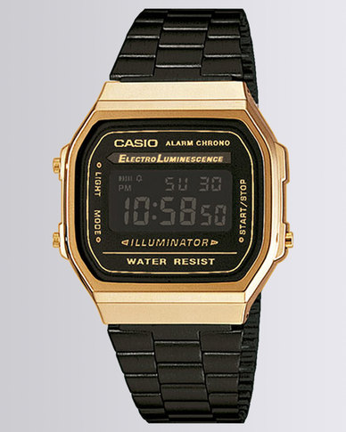 0d80fa6caea6 Casio Unisex Digital Gold Black Retro Watch