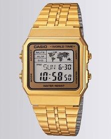 Casio Mens Digital Gold Retro Watch