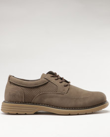 Luciano Rossi Derby Shoes Taupe