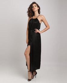 Utopia Halter Maxi Dress Black