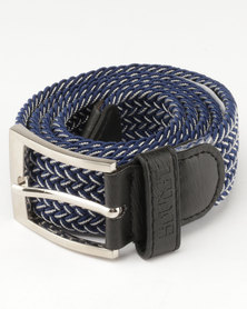 Soviet Explorer Belt Chocolate Navy/White