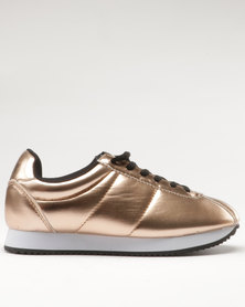 BKLYN Arion Classic Lace Up Trainer Rose Gold