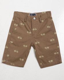 Klevas Boys Bicycle Shorts Brownie