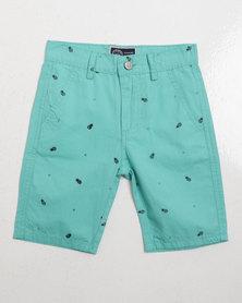 Klevas Boys Tropical Shorts Mint