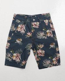 Klevas Boys Andrew Shorts Navy Floral