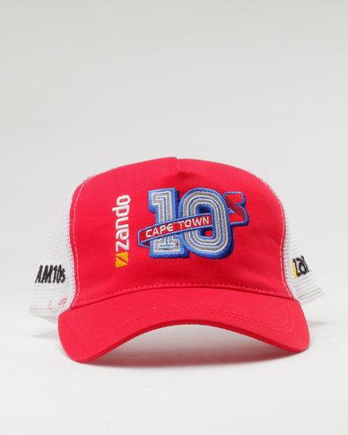 Zando 10s Cap Red  268f7f4ac02