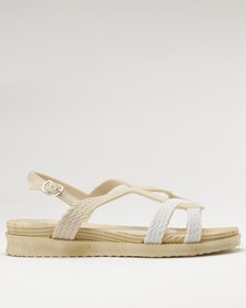 Q Surf Flat Sandal Beige/White