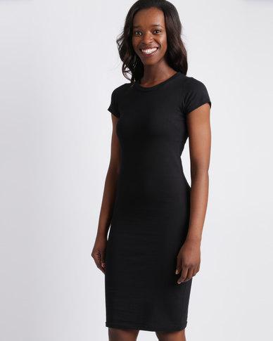 Utopia Basic Knit Dress Black
