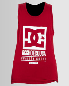 DC Boys Keep Rolling Vest Red
