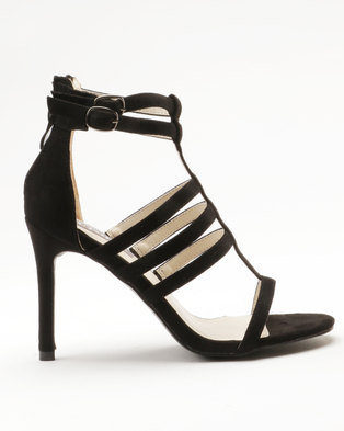 Utopia Strappy Heel Sandal Black