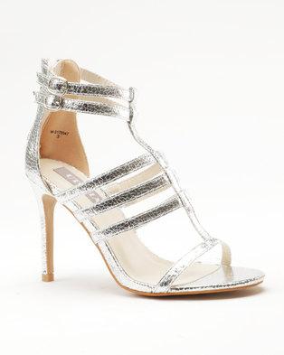 2302190af11 Utopia Strappy Heel Sandal Silver