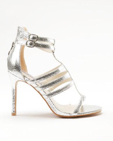 Utopia Strappy Heel Sandal Silver