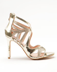 Utopia Strappy Heel Gold