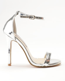 Sarah J Barely There Heeled Sandals Silver