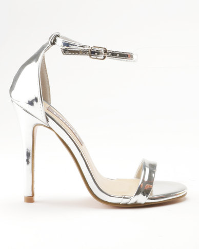 1700636595d Sarah J x Utopia Barely There Heeled Sandals Silver