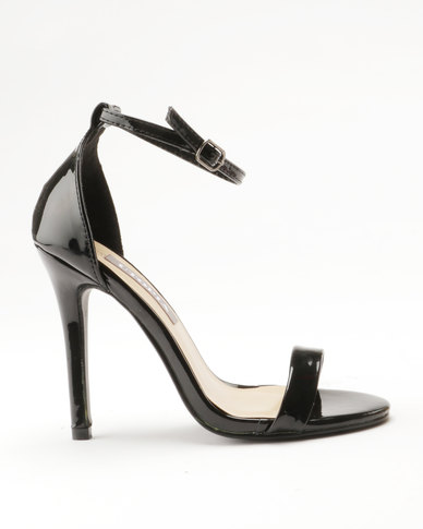 buy cheap pay with paypal original sale online Sarah J Sarah J x Utopia Barely There Heeled Sandals Black Jjbpm5Wuw