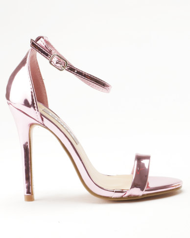 5b885e5c6a0 Sarah J x Utopia Barely There Heeled Sandals Pink