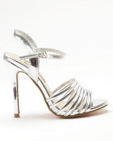Sarah J Heeled Sandals Silver