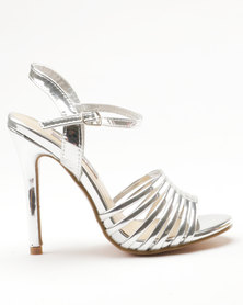 Sarah J x Utopia Heeled Sandals Silver