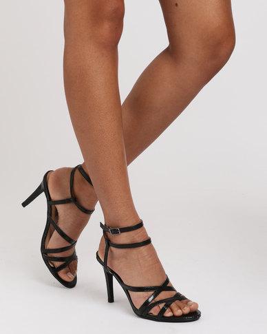 Sarah J x Utopia Strappy Heeled Sandal Black